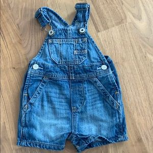 Baby Gap denim overalls. 0-3 Months
